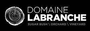 DLB logo horizontal fond noir branches EN - Domaine Labranche