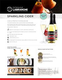 Sparkling cider sheet
