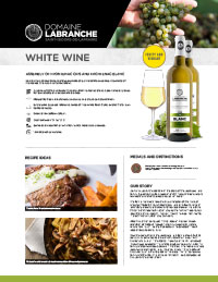 White wine sheet