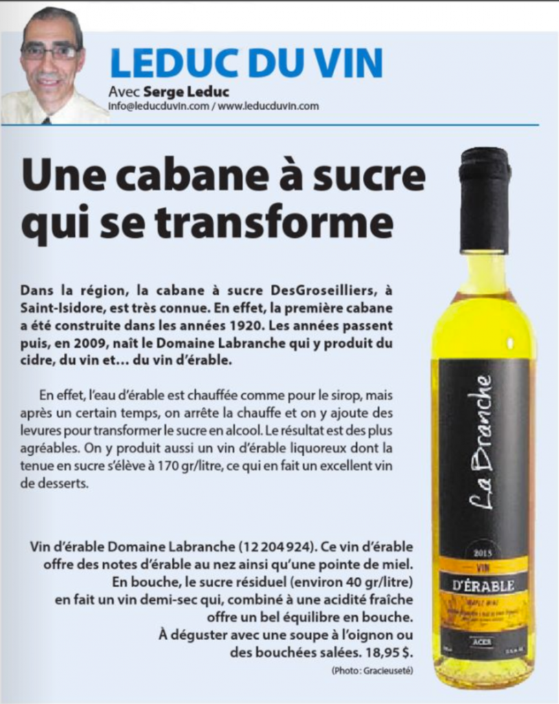 Cabane a sucre labranche vin - Domaine Labranche