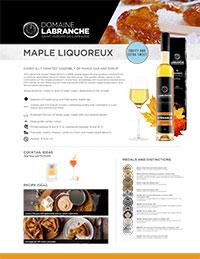 Sweet Maple Wine's product sheet