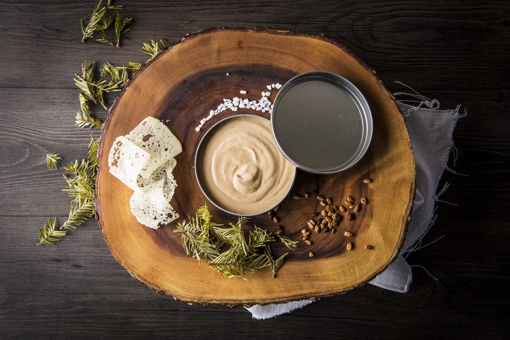 Crémeux de foie gras à la purée de pomme et liquoreux à l'érable