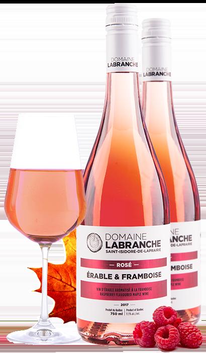 Rosé framboise et érable Domaine Labranche
