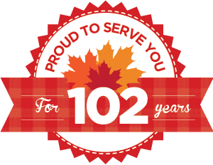 Proud to serve you for 102 years