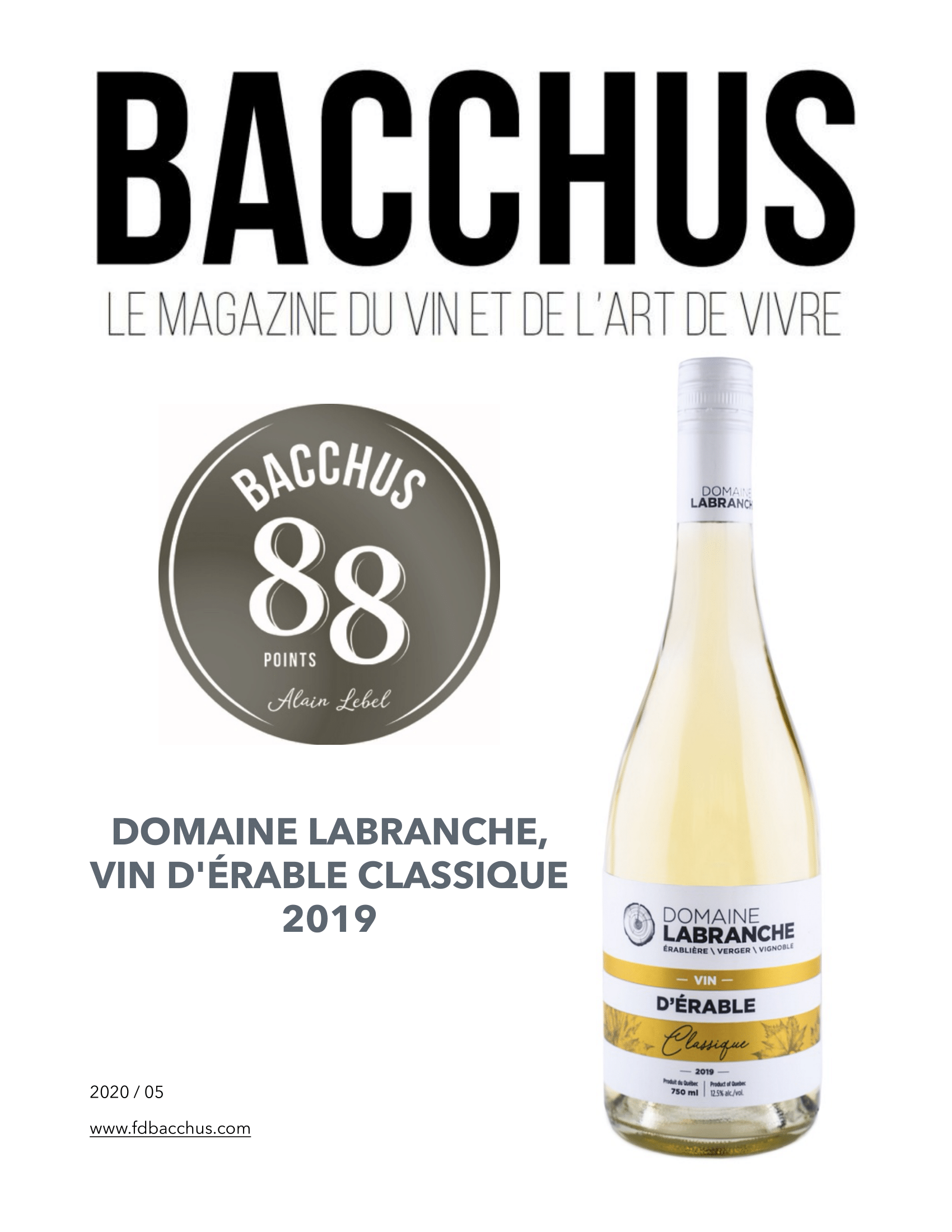 AfficheDomLabrancheVinDerable 1 - Domaine Labranche